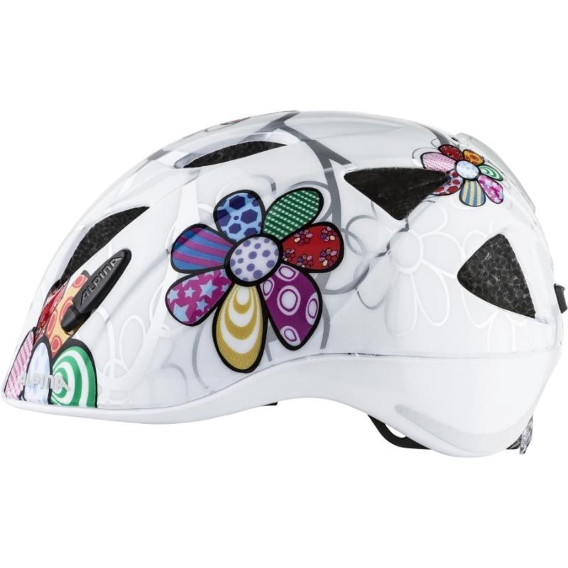 92cfeca5a0 Cyklistická helma Alpina Ximo Flash white flower (s blikačkou ...